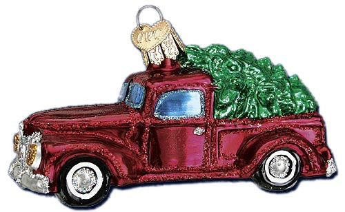 Old Truck with Tree Ornament