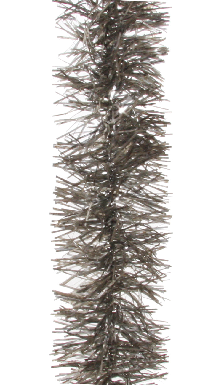 Antiqued Silver Tinsel Garland