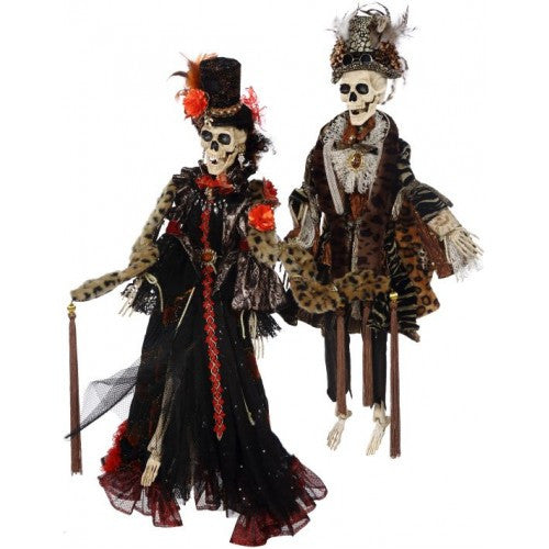 Mr & Mrs Haute Couture Skeleton - 31""