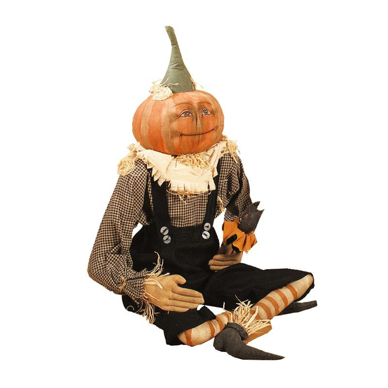 Britches Pumpkin Head Cloth Doll - Joe Spencer Halloween