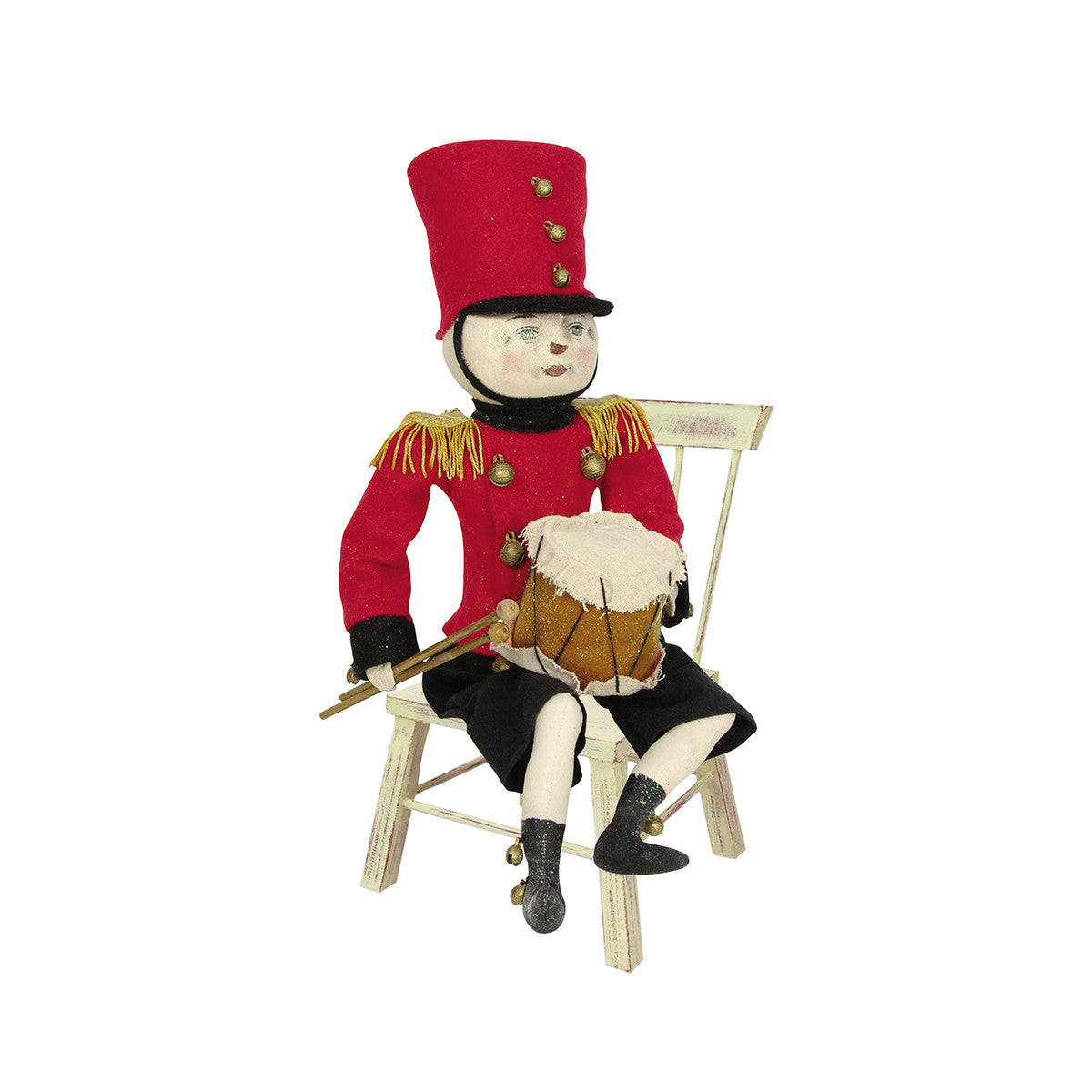 Joe Spencer Drummond Drummer Snowman Doll