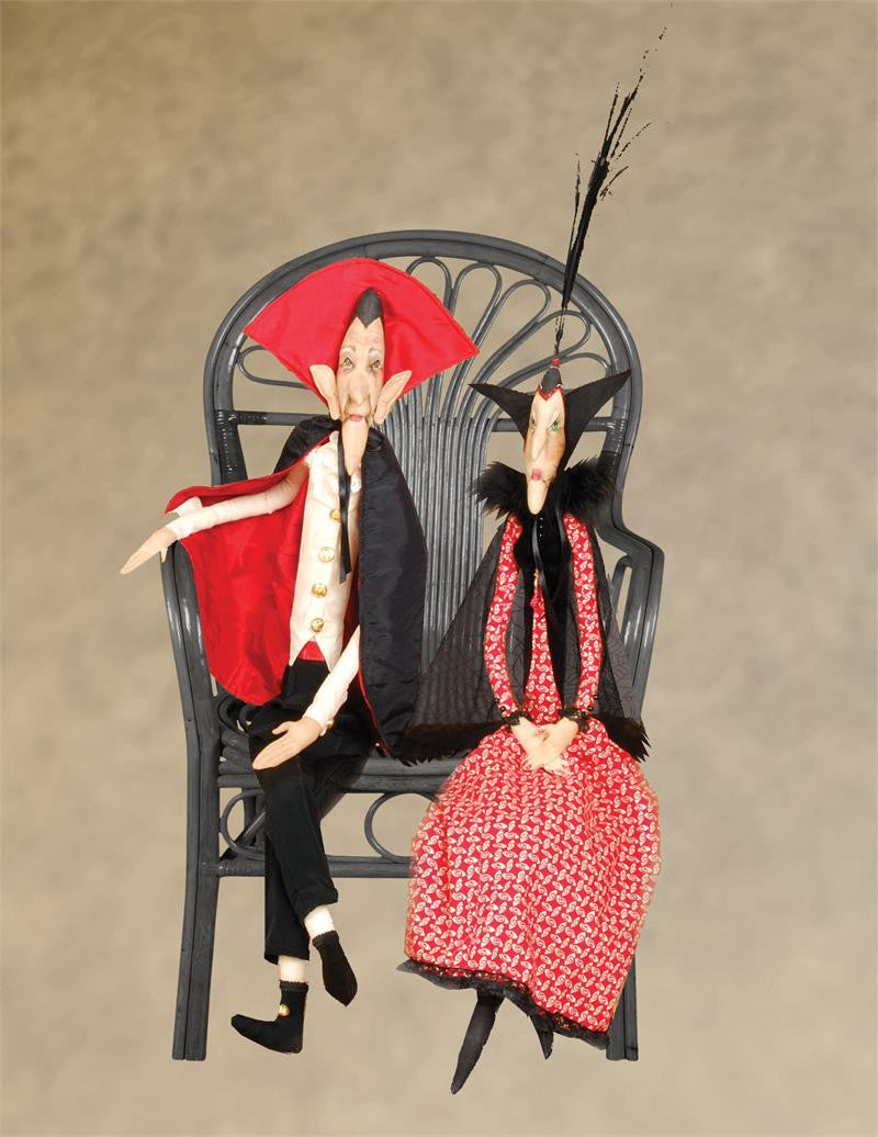 The Count & Countess Joe Spencer Halloween Dolls