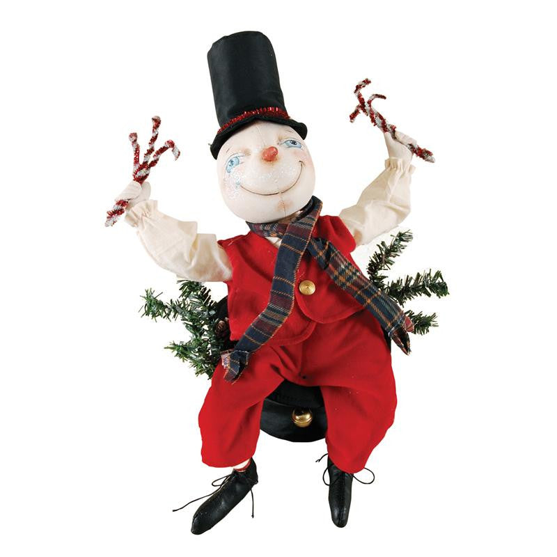 Monty Snowman - Christmas Centerpiece - Joe Spencer Doll