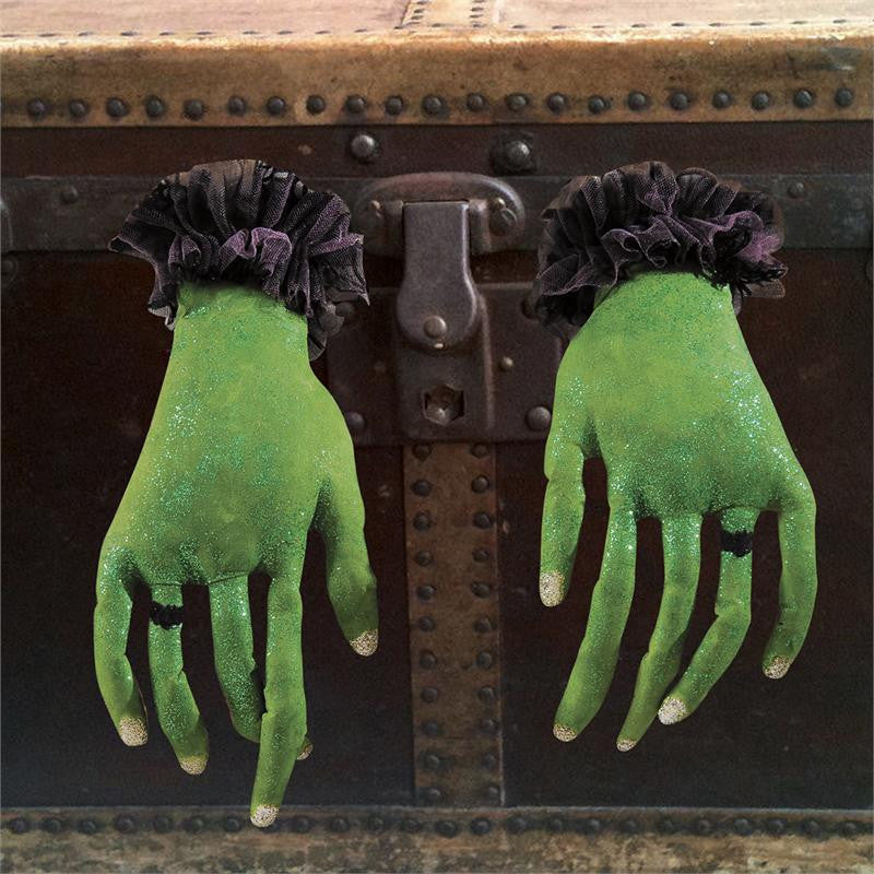 Green with Envy Hands - Joe Spencer Halloween Witch Fingers