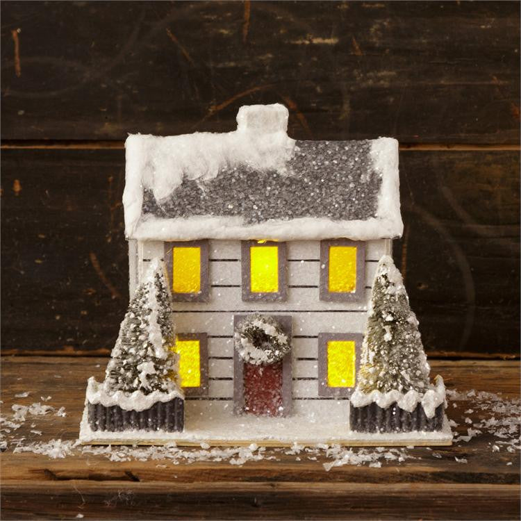 Snowy Paper Christmas House