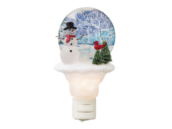 Snowman Snow Globe Night Light