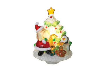 Santa by Tree Beaded Night Light