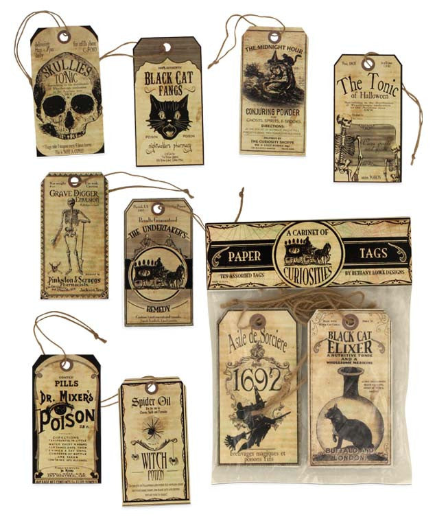A Cabinet Of Curiosities Paper Tags