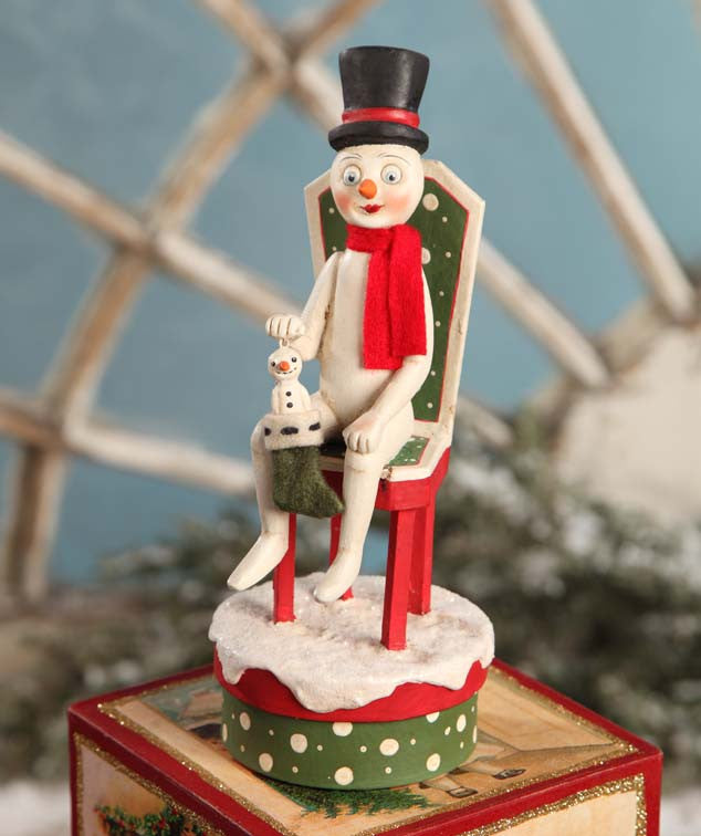 Time Out For Snowman Container - Allen Cunningham for Bethany Lowe - Christmas