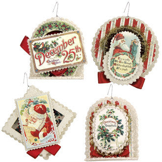 Christmas Greetings Ornaments