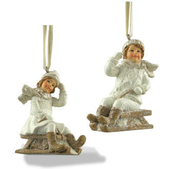 Child on Sled Ornaments