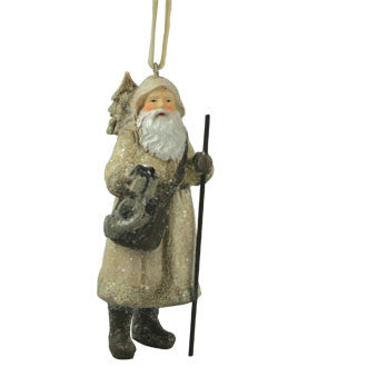 Winterberry Santa Ornament