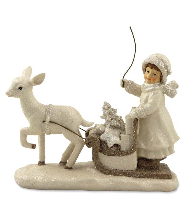 Girl Driving Sleigh