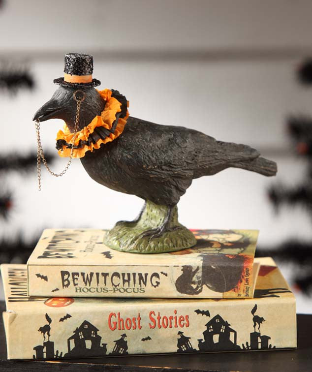 Crow With Top Hat And Monocle