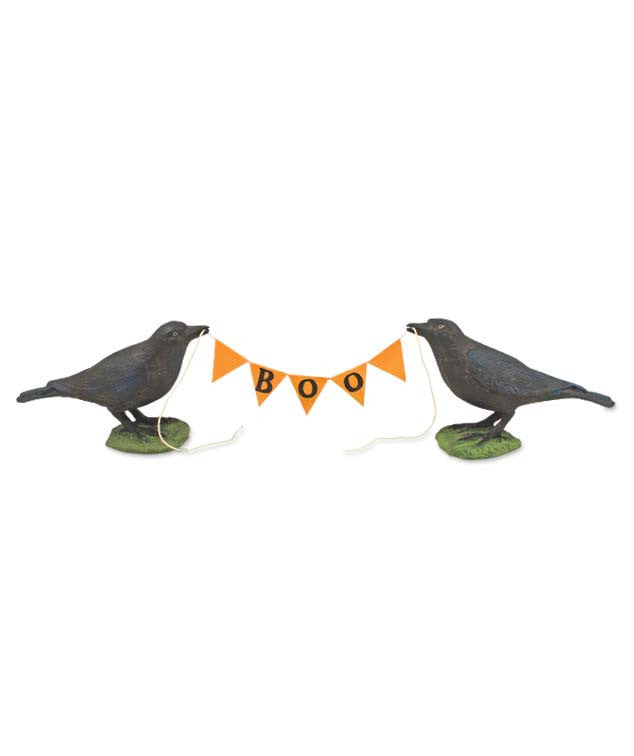 Crows Holding Pennant Garland