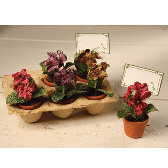 Velveteen Flower Placecard Holders