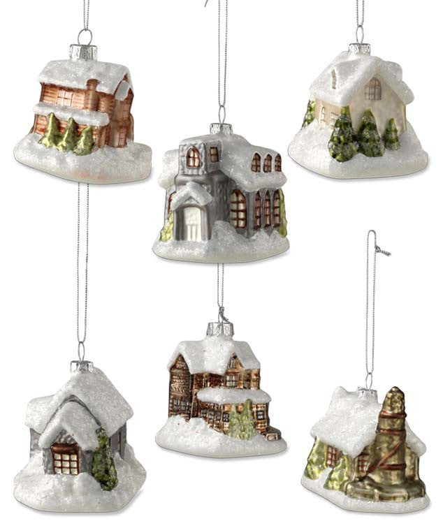 Vintage Victorian Manor Ornaments