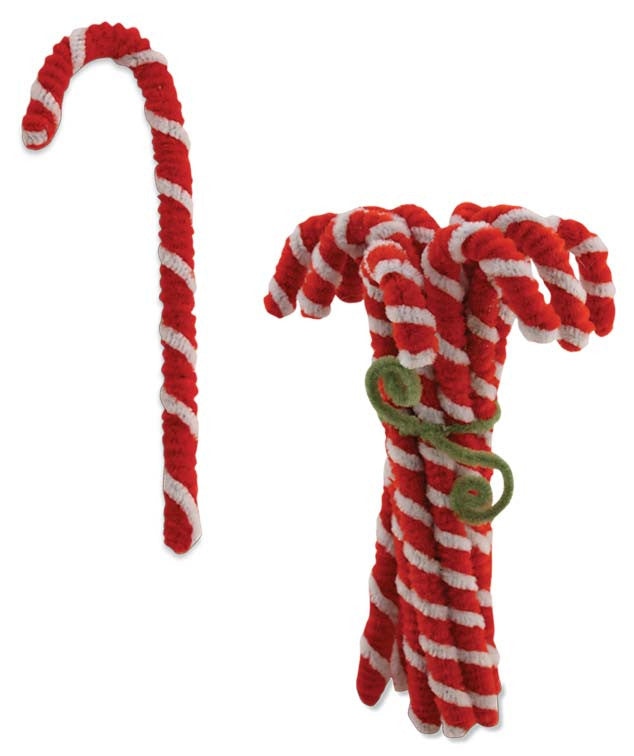 Chenille Candy Cane