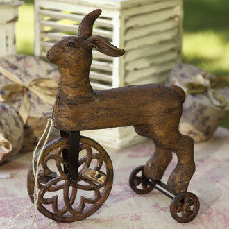 Folk Art Rabbit Tricycle