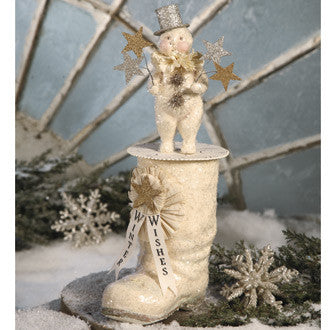 Large Snowman on Boot