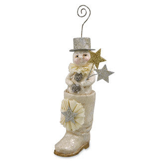 Snowman in Boot Ornament