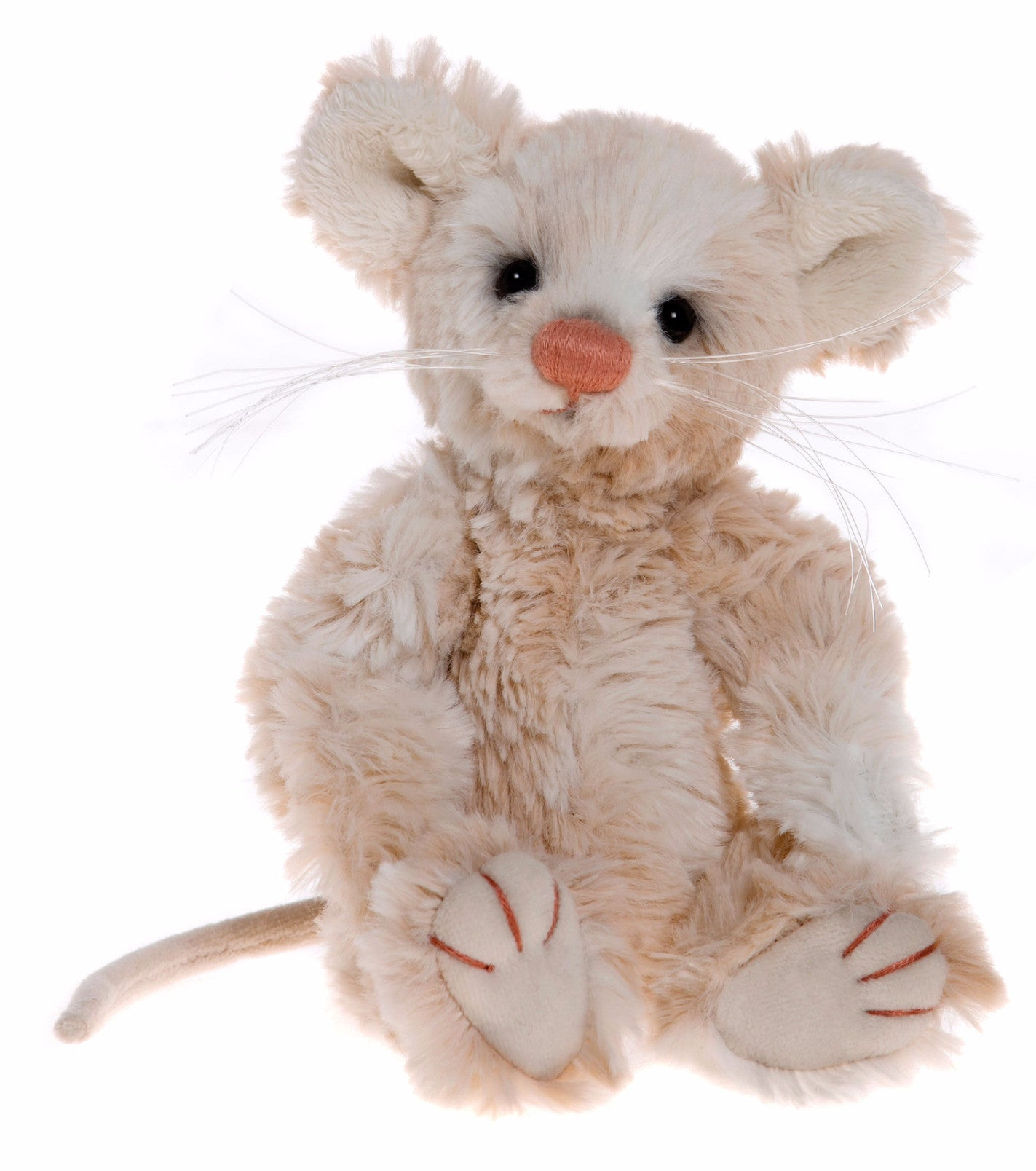 Charlie Bears Doc Mouse Push Jointed Stuffed Animal