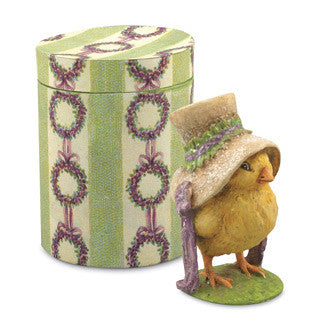 Chick in Hat Box