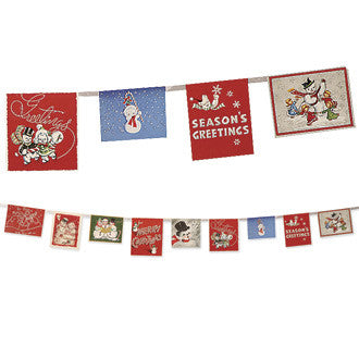 Snowman Christmas Card Garland