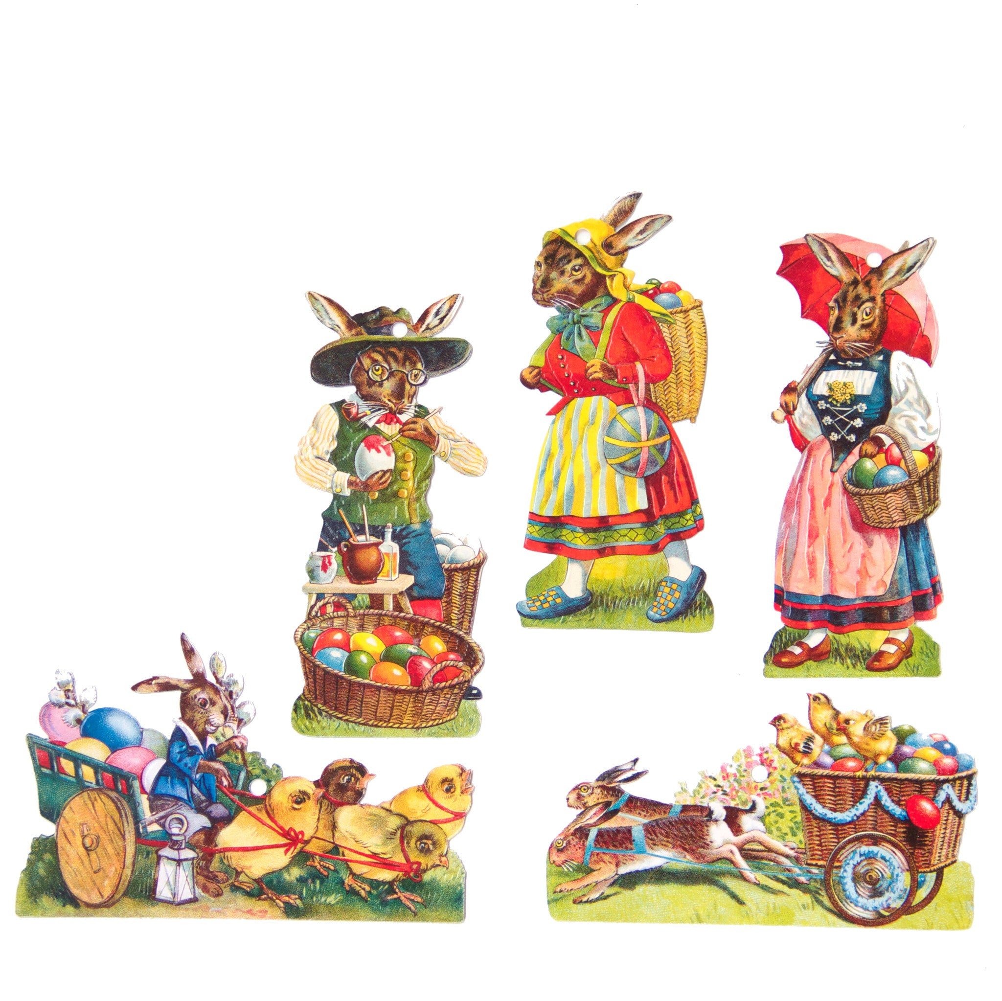 Easter Storybook Scrap Ornaments from Germany