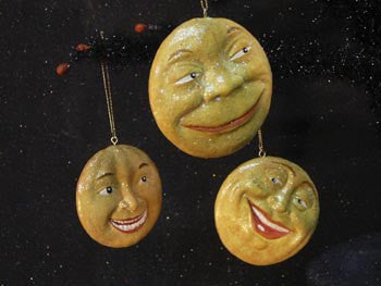 Moon Face Ornaments