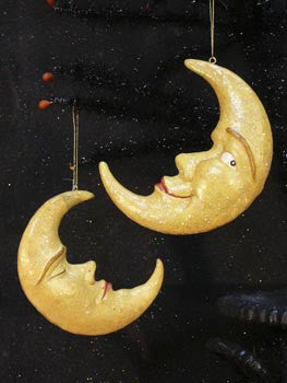 Crescent Moon Ornaments