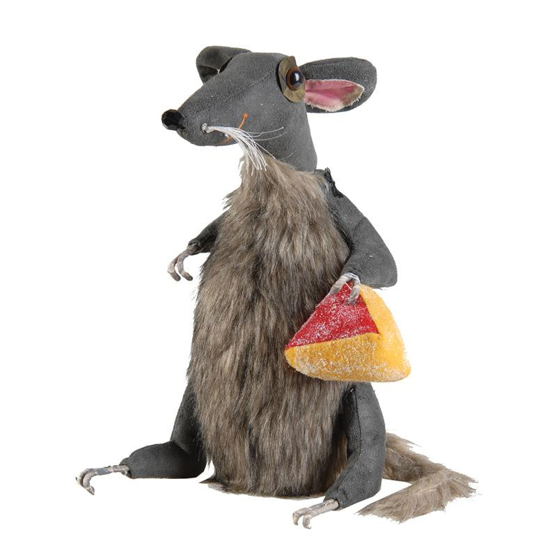 Benjamin Rat - Cloth Rat Doll with Cheese