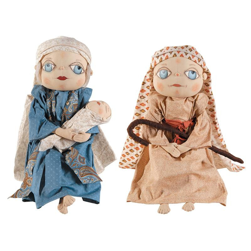 Mary Joseph & Jesus - Joe Spencer Christmas Dolls