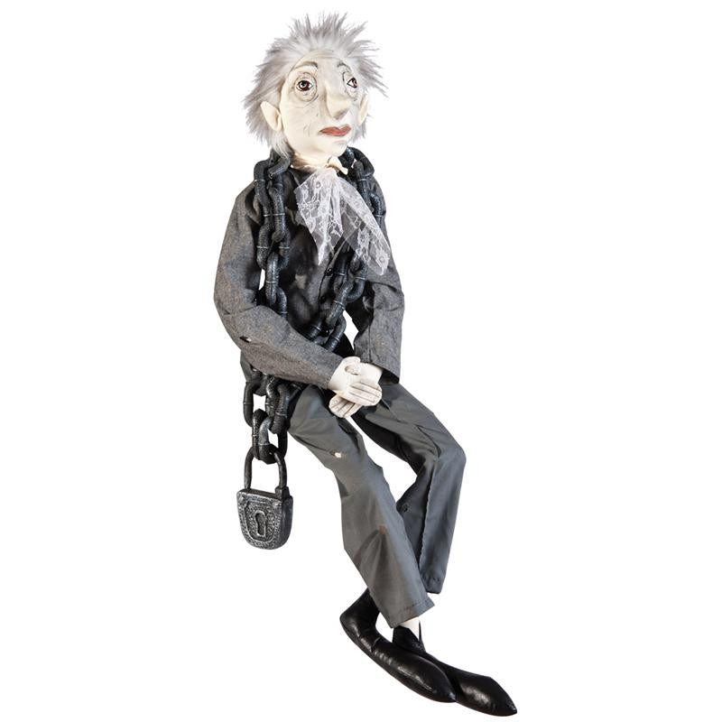 Jacob Marley Ghost of Christmas Past Cloth Christmas Doll. Gathered Traditions Collection by Joe Spencer.