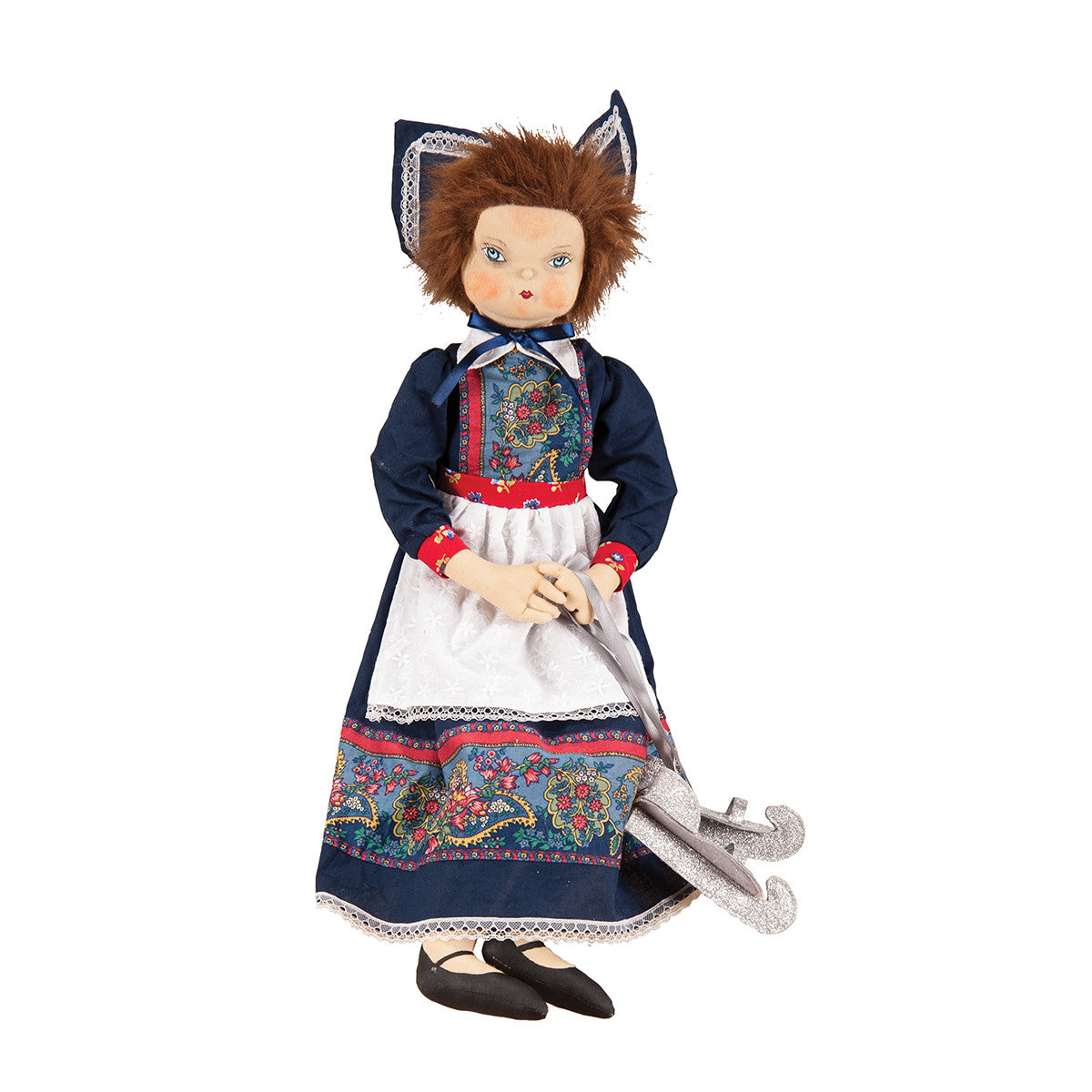 Gretel Dutch Girl Doll with Silver Skates by Joe Spencer