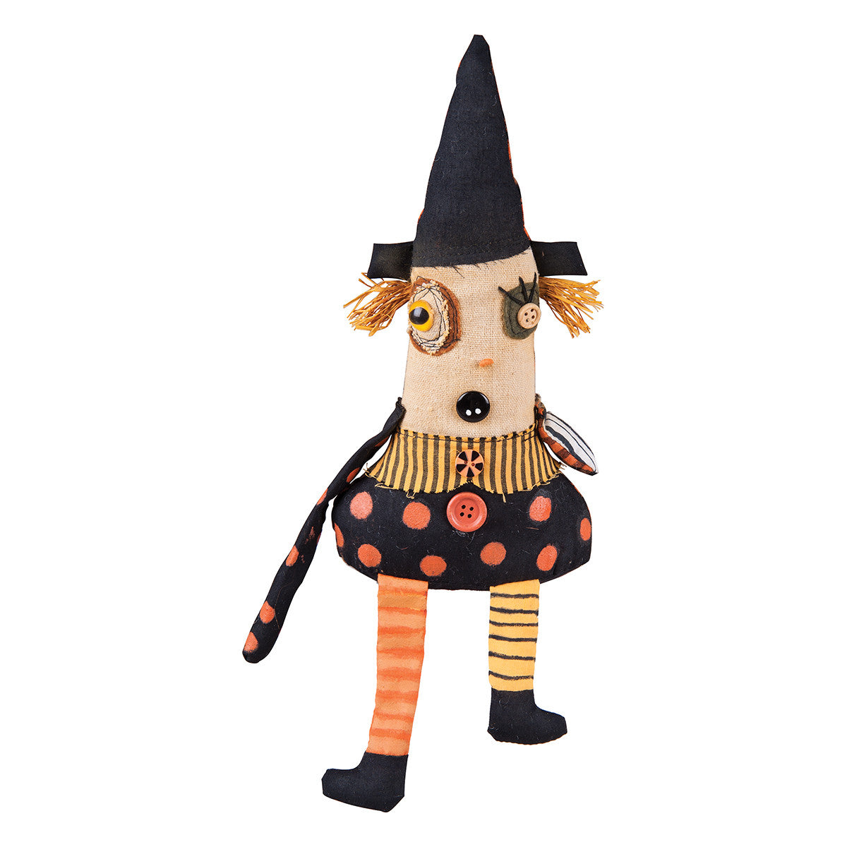 Tilda Witch Ragdoll - Cloth Halloween Doll by Junker Jane