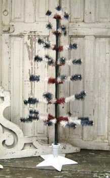 Red White & Blue Feather Tree