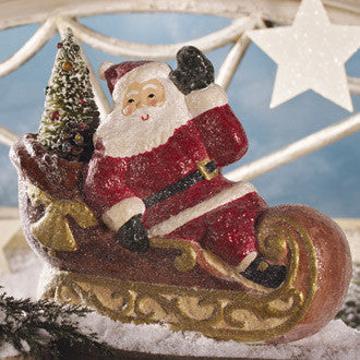 Waving Santa on Sleigh