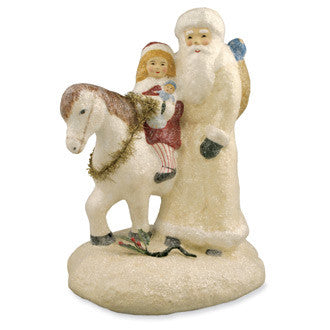 Santa with Child on Horse