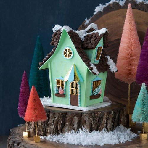 Glitterville Whimsical Cottage - Green