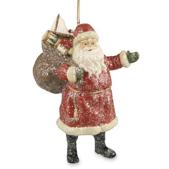 Jolly Old Santa Ornament