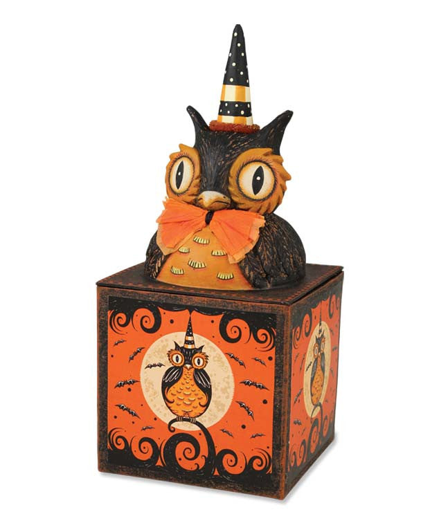 Perched Owl Candy Box