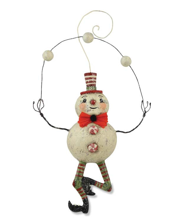 Juggling Snowman Ornament