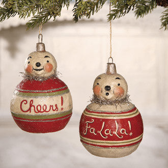 Snow Bauble Ornaments