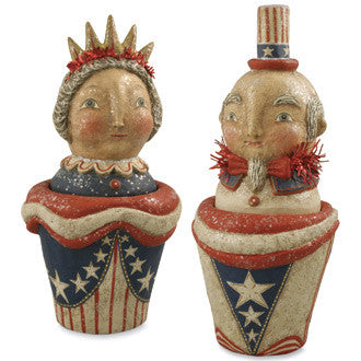 Lady Liberty & Uncle Sam Containers