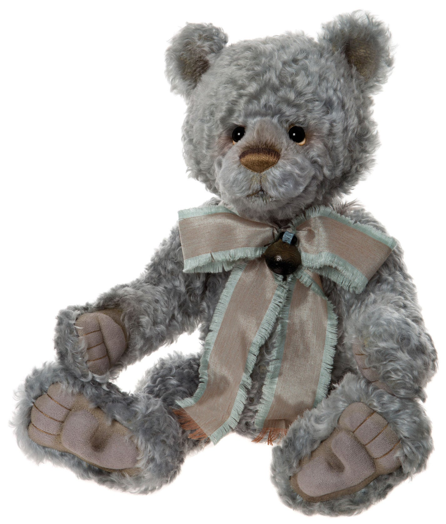 Charlie Bears Jive Teddy Bear - Blue Green Mohair