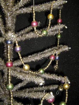 Multi Bauble Stripe Bead Garland