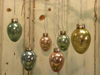 12 Mini Glass Egg Ornaments