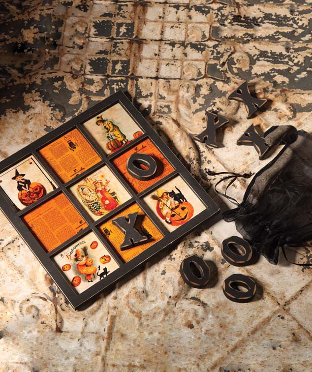 Halloween Tic Tac Toe Board Game