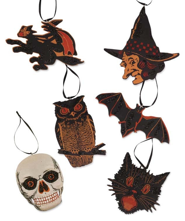 Vintage Halloween Image Ornaments